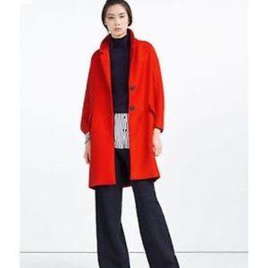 Zara Woman Coat with Flap Pockets